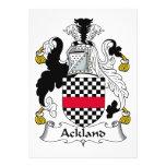 Escudo de la familia de Ackland Comunicado