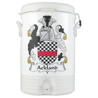 Escudo de la familia de Ackland Vaso Enfriador Igloo