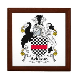 Escudo de la familia de Ackland Joyero Cuadrado Grande