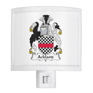 Escudo de la familia de Ackland Luces De Noche