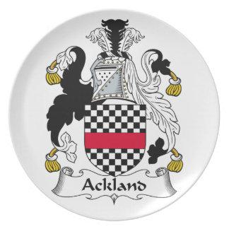 Escudo de la familia de Ackland Plato De Cena