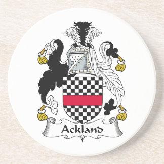 Escudo de la familia de Ackland Posavaso Para Bebida