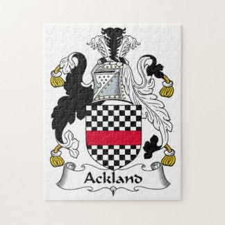 Escudo de la familia de Ackland Puzzle