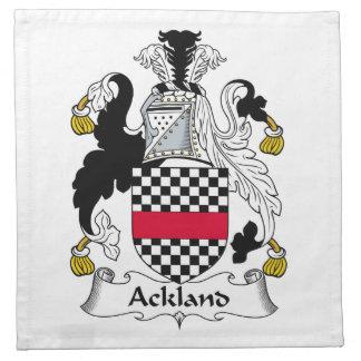 Escudo de la familia de Ackland Servilletas De Papel