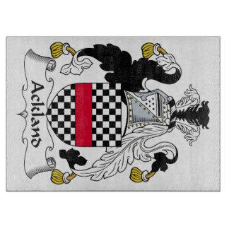 Escudo de la familia de Ackland Tabla Para Cortar
