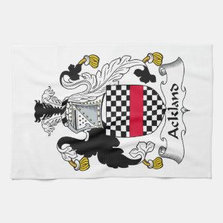 Escudo de la familia de Ackland Toalla De Mano