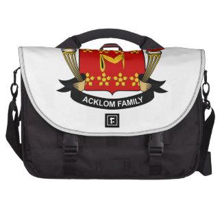 Escudo de la familia de Acklom Bolsas De Portatil
