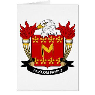 Escudo de la familia de Acklom Tarjetas