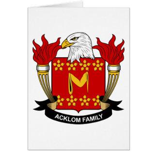 Escudo de la familia de Acklom Tarjetón