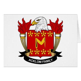 Escudo de la familia de Acklom Tarjeton