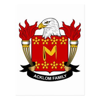 Escudo de la familia de Acklom Postales