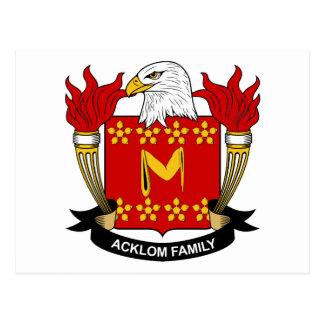 Escudo de la familia de Acklom Postal