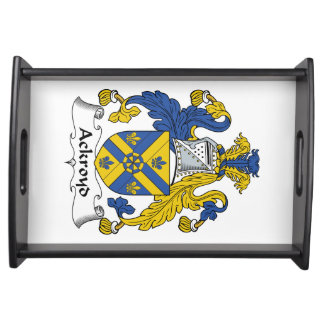 Escudo de la familia de Ackroyd Bandejas