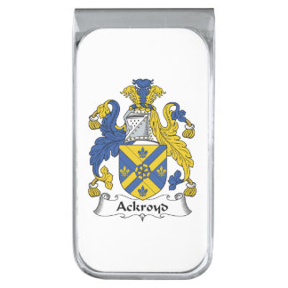 Escudo de la familia de Ackroyd Clip Para Billetes Plateado