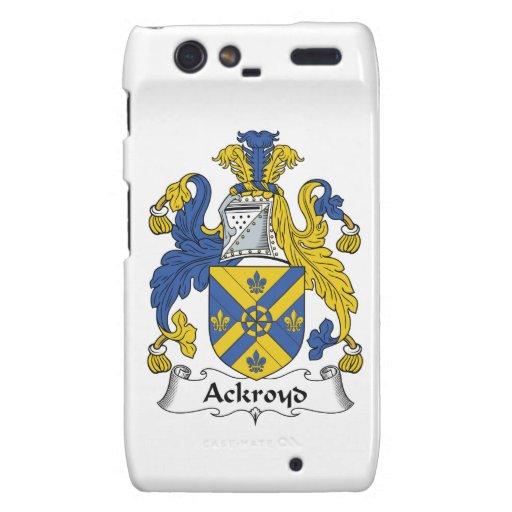 Escudo de la familia de Ackroyd Motorola Droid RAZR Funda