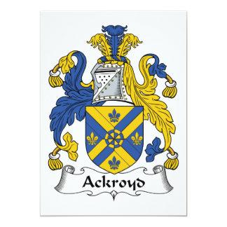 """Escudo de la familia de Ackroyd Invitación 5"""" X 7"""""""