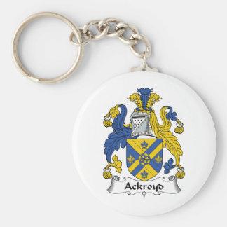 Escudo de la familia de Ackroyd Llavero Redondo Tipo Pin