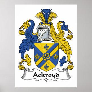 Escudo de la familia de Ackroyd Posters