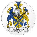 Escudo de la familia de Ackroyd Reloj
