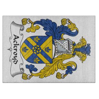 Escudo de la familia de Ackroyd Tabla Para Cortar