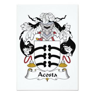 """Escudo de la familia de Acosta Invitación 5"""" X 7"""""""