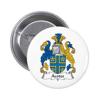 Escudo de la familia de Acotes Pin Redondo 5 Cm