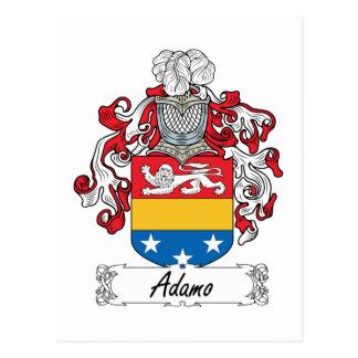 Escudo de la familia de Adamo Postal