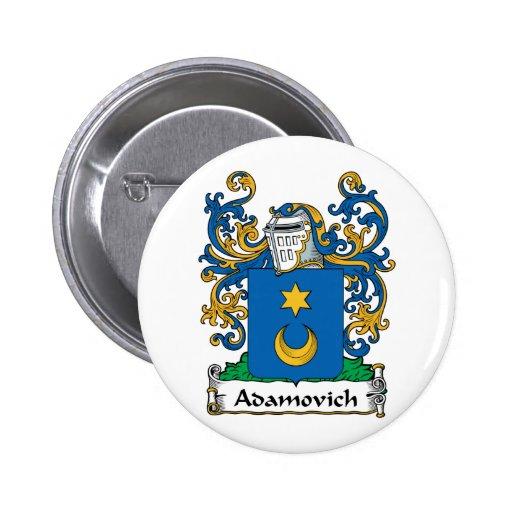 Escudo de la familia de Adamovich Pin Redondo 5 Cm