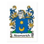 Escudo de la familia de Adamovich Tarjetas Postales