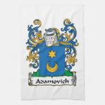 Escudo de la familia de Adamovich Toalla De Mano