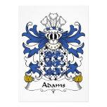 Escudo de la familia de Adams Comunicados Personales
