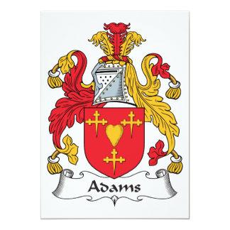 """Escudo de la familia de Adams Invitación 5"""" X 7"""""""