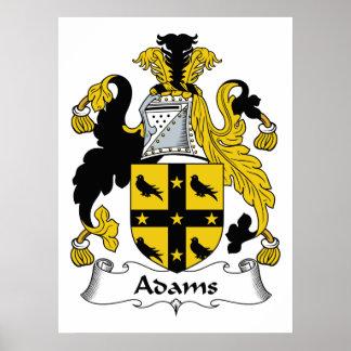 Escudo de la familia de Adams Póster