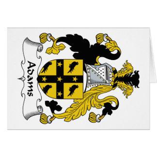 Escudo de la familia de Adams Tarjeta De Felicitación
