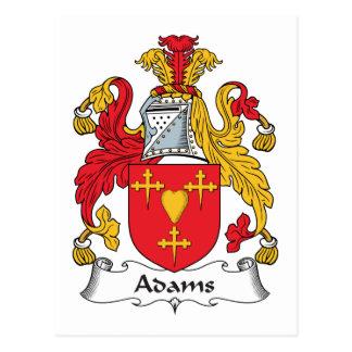 Escudo de la familia de Adams Tarjeta Postal