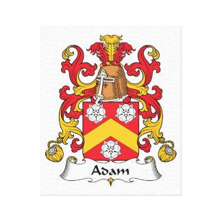 Escudo de la familia de Adán Impresión En Lienzo Estirada