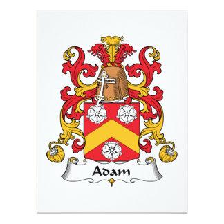 Escudo de la familia de Adán Anuncio Personalizado