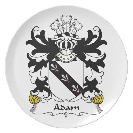 Escudo de la familia de Adán Platos