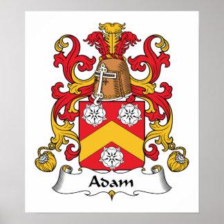 Escudo de la familia de Adán Póster