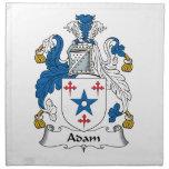 Escudo de la familia de Adán Servilletas Imprimidas