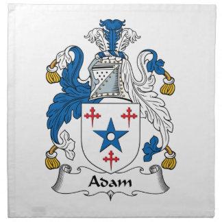 Escudo de la familia de Adán Servilleta Imprimida