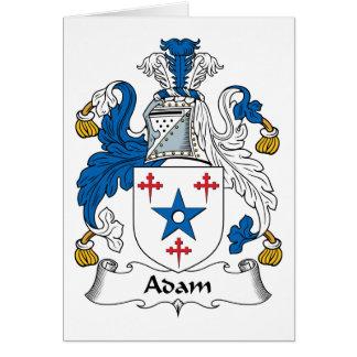 Escudo de la familia de Adán Tarjeton