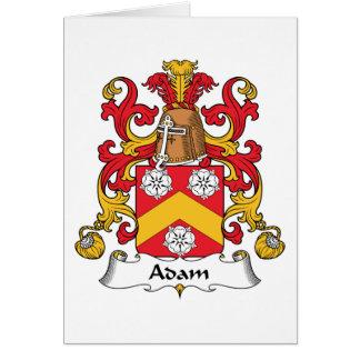 Escudo de la familia de Adán Tarjeta