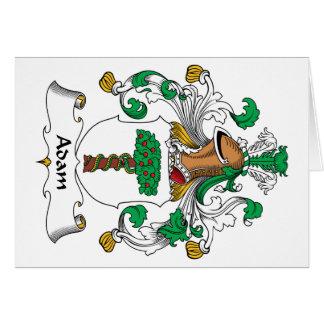 Escudo de la familia de Adán Tarjetas