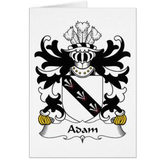 Escudo de la familia de Adán Felicitaciones