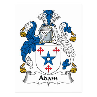 Escudo de la familia de Adán Postales