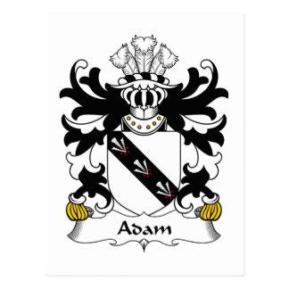 Escudo de la familia de Adán Tarjeta Postal
