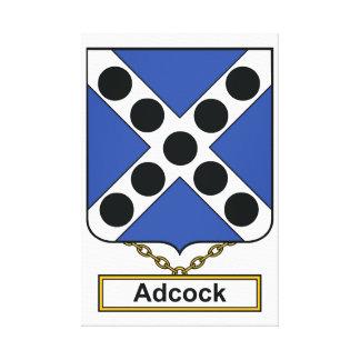 Escudo de la familia de Adcock Lienzo Envuelto Para Galerías