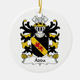 Escudo de la familia de Adda Adorno Redondo De Cerámica