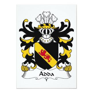"""Escudo de la familia de Adda Invitación 5"""" X 7"""""""